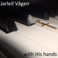 with His hands